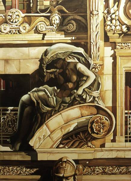 Painting - Architectural Detail Diptych by Alfred Ng