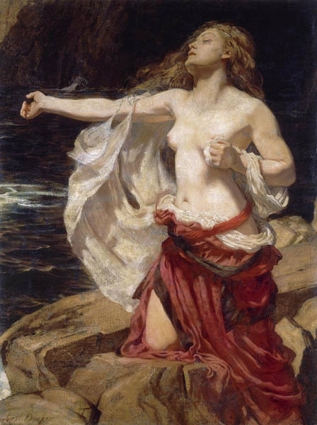Herbert Draper Painting - Ariadne by Herbert James Draper