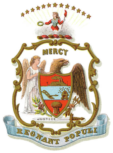 Wall Art - Painting - Arkansas Coat Of Arms by Granger