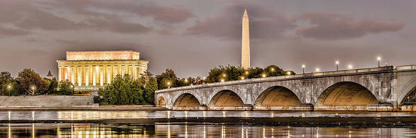 Washington Crossing Photograph - Arlington Memorial Bridge With Lincoln by Panoramic Images