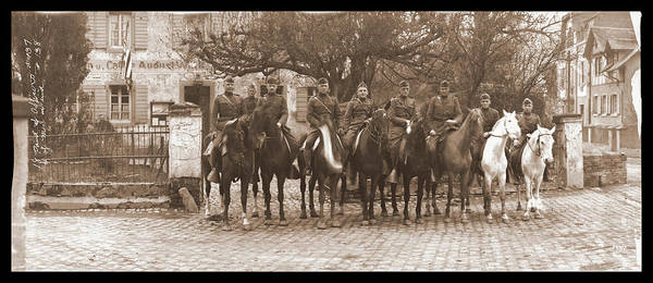Platoon Wall Art - Photograph - Army Officers On Horseback, Likely by Fred Schutz Collection