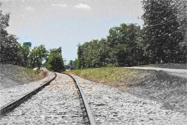 Photograph - Railroad - Tracks - Landscape - Around The Bend by Barry Jones