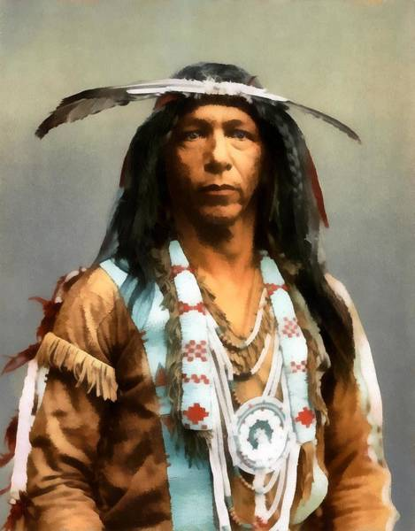 Indian Brave Digital Art - Arrowmaker An Ojibwa Brave 1903 by Detroit Photographic Co