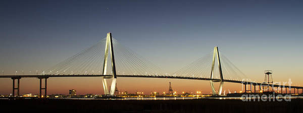 Cable-stayed Bridge Photograph - Arthur Ravenel Jr Bridge Over The Cooper River Charleston Sc by Dustin K Ryan