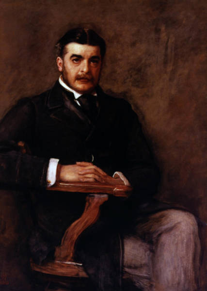 Crossed Legs Painting - Arthur Seymour Sullivan (1842-1900) by Granger
