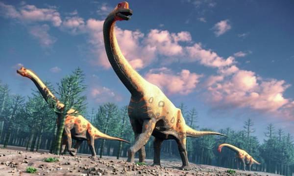 Prehistoric Era Wall Art - Digital Art - Artwork Of Brachiosaurus by Mark Garlick