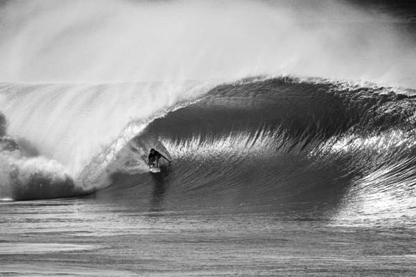 Big Waves Photograph - As Good As It Gets - Bw by Sean Davey