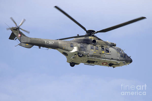 Utility Aircraft Photograph - As332m1 Super Puma Helicopter by Luca Nicolotti