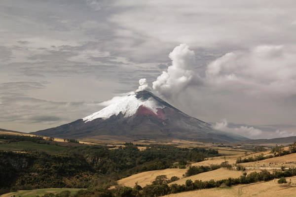 2010s Wall Art - Photograph - Ash Plume Rising From Cotopaxi Volcano by Dr Morley Read