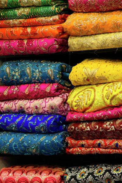 Dress Shop Photograph - Asia, India, Delhi by Kymri Wilt