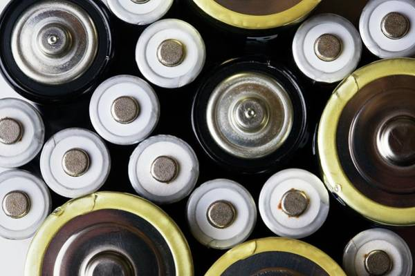 Battery D Wall Art - Photograph - Assorted Batteries by Emmeline Watkins/science Photo Library