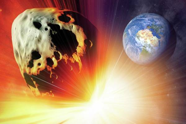 Near Earth Object Photograph - Asteroid Deflection Using Nuclear Explosion by Detlev Van Ravenswaay/science Photo Library
