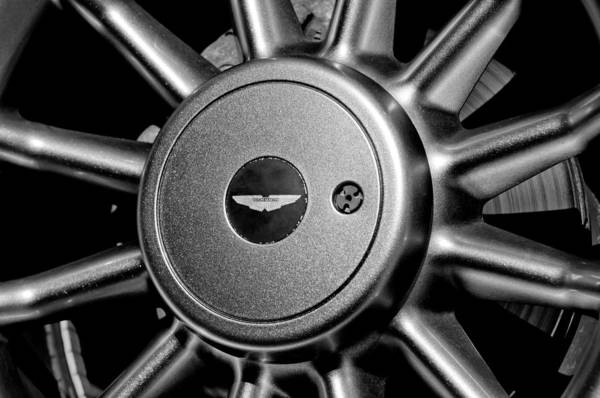 Photograph - Aston Martin Db7 Wheel Emblem by Jill Reger