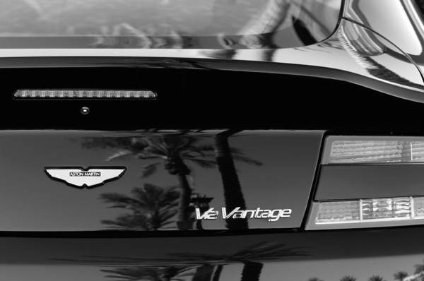 Photograph - Aston Martin Ve Vantage Rear View Emblem by Jill Reger