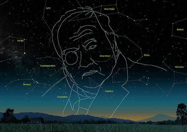 Ursa Major Photograph - Astronomer Patrick Moore As Constellation by Mark Garlick/science Photo Library