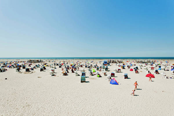 Beach Holiday Photograph - At The Beach Of St Peter Ording by Arnt Haug / Look-foto