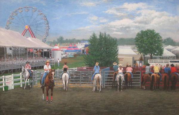 County Fair Painting - At The Fair by Tim Maher
