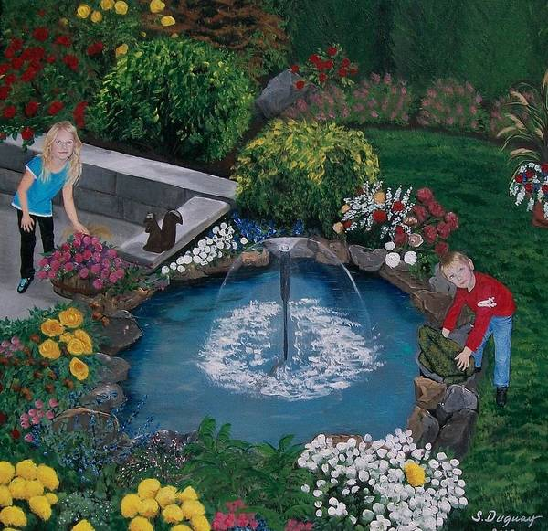 Painting - At The Pond by Sharon Duguay