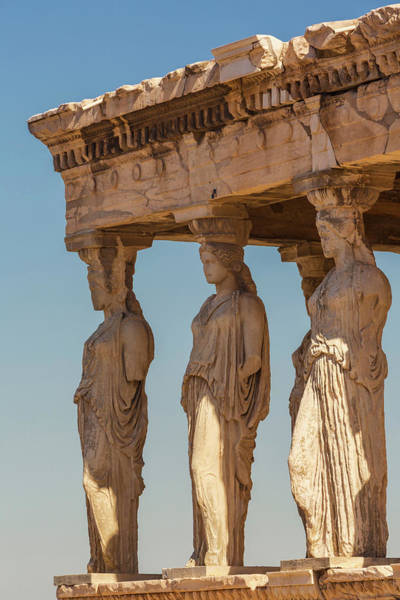 Grecian Photograph - Athens, Attica, Greece. Porch by Panoramic Images