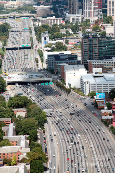 I-75 Photograph - Atlanta Georgia by Bill Cobb