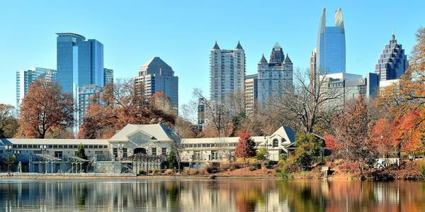 Wall Art - Photograph - Atlanta Panoramic From Piedmont Park by Frozen in Time Fine Art Photography