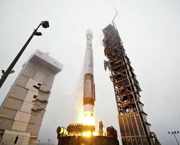 Reconnaissance Photograph - Atlas V Rocket Launch by National Reconnaissance Office