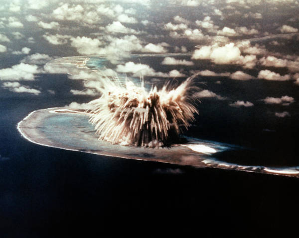 Nuclear Bomb Wall Art - Photograph - Atomic Bomb Explosion by Us Department Of Energy/science Photo Library