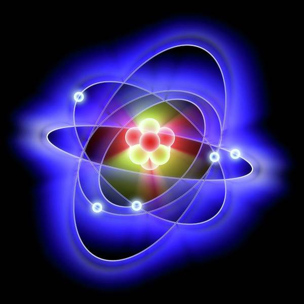 Atoms Wall Art - Photograph - Atomic Structure by Alfred Pasieka