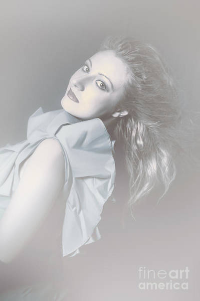 Brighter Side Photograph - Attractive Young Female Beauty In Winter Fog by Jorgo Photography - Wall Art Gallery