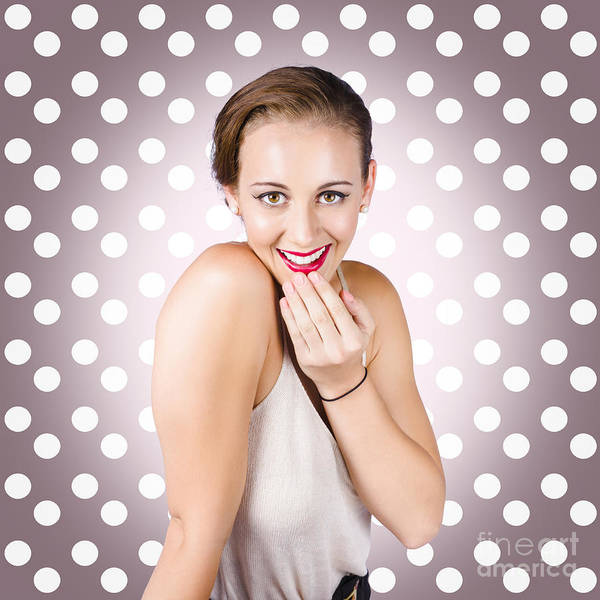 Wall Art - Photograph - Attractive Young Retro Girl With Look Of Surprise by Jorgo Photography - Wall Art Gallery