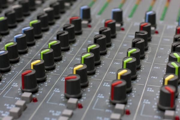Photograph - Audio Mixing Board Console by Gunter Nezhoda
