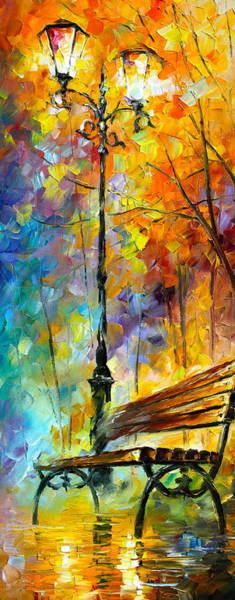 Bench Painting - Aura Of Autumn 2 by Leonid Afremov