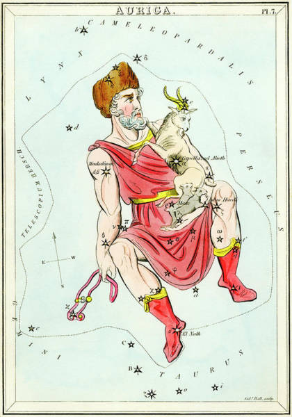 Mythological Photograph - Auriga Constellation by Royal Astronomical Society/science Photo Library