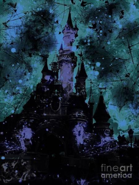 Sleeping Beauty Castle Digital Art - Aurora's Nightmare by Marina McLain