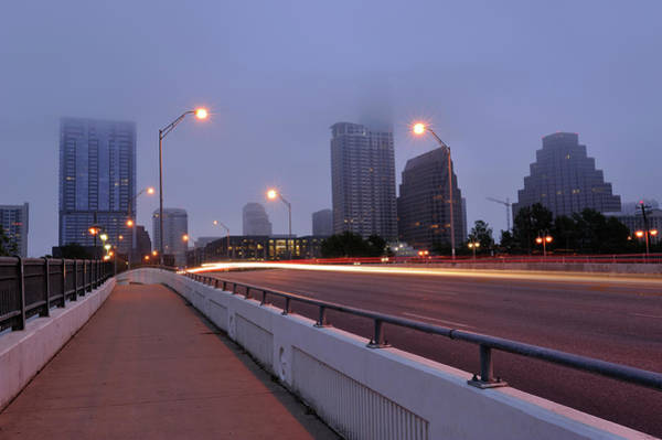 Downtown Austin Photograph - Austin In Fog by Aimintang