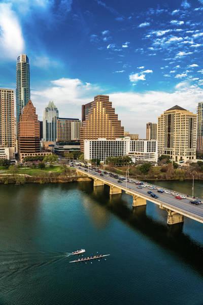 Downtown Austin Photograph - Austin, Texas - Austin Cityscape by Panoramic Images