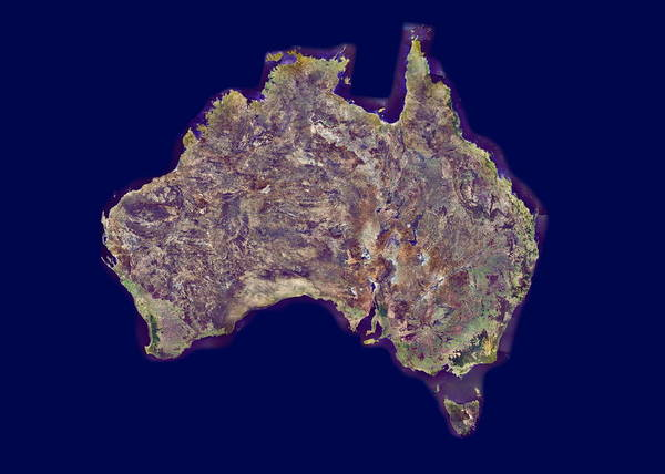 Wall Art - Photograph - Australia by Mda Information Systems/science Photo Library