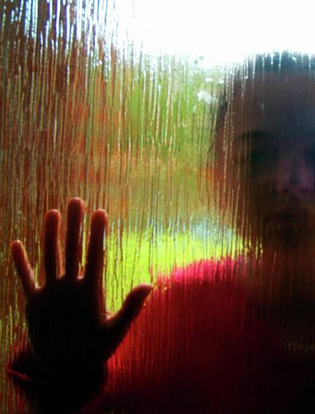 Frosted Glass Photograph - Autistic Girl by Hannah Gal