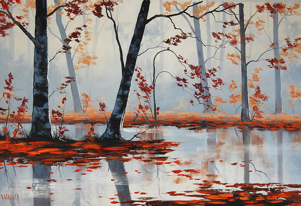 Amber Wall Art - Painting - Autumn Blaze by Graham Gercken