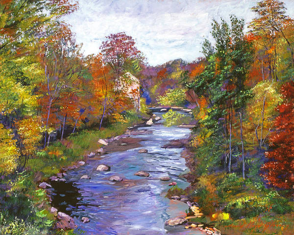 Wall Art - Painting - Autumn River by David Lloyd Glover