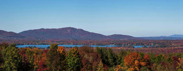 Bolton Photograph - Autumn Trees At Lakeshore, Brome Lake by Panoramic Images