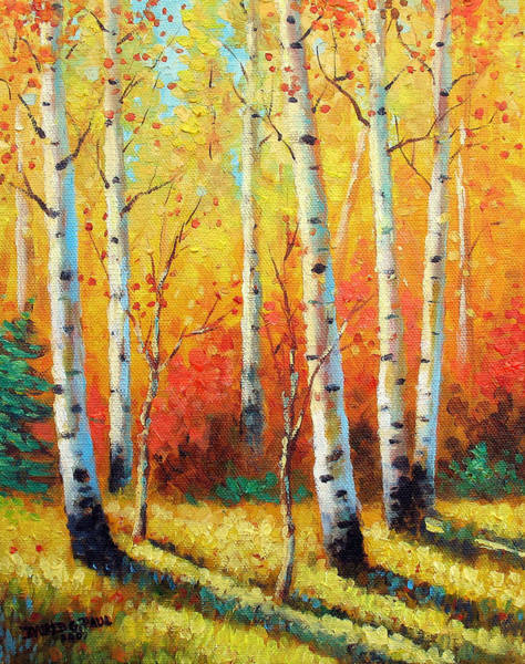Wall Art - Painting - Autumn's Glow by David G Paul