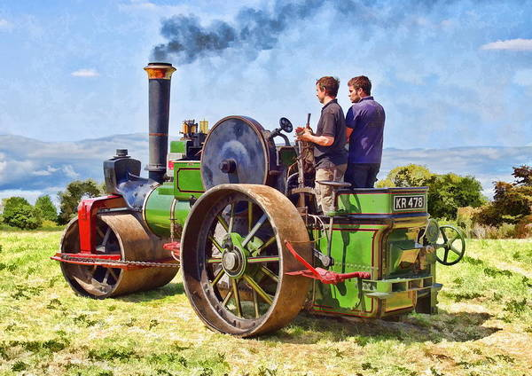 Art Print featuring the photograph Aveling Roller by Paul Gulliver