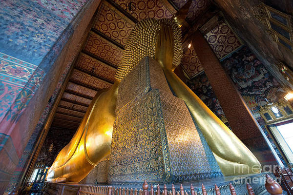 Photograph - Back View Of Reclining Buddha by Yew Kwang