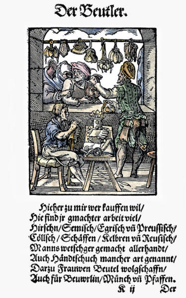 Painting - Bag Makers, 1568 by Granger