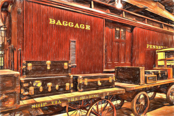 Photograph - Baggage by Paul W Faust -  Impressions of Light