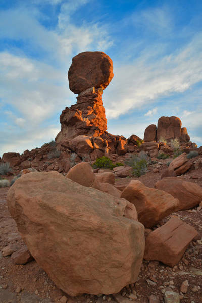 Photograph - Balanced Rock Sunrise by Ray Mathis
