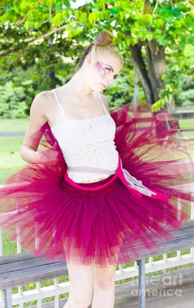 Warming Up Wall Art - Photograph - Ballerina Stretching And Warming Up by Jorgo Photography - Wall Art Gallery