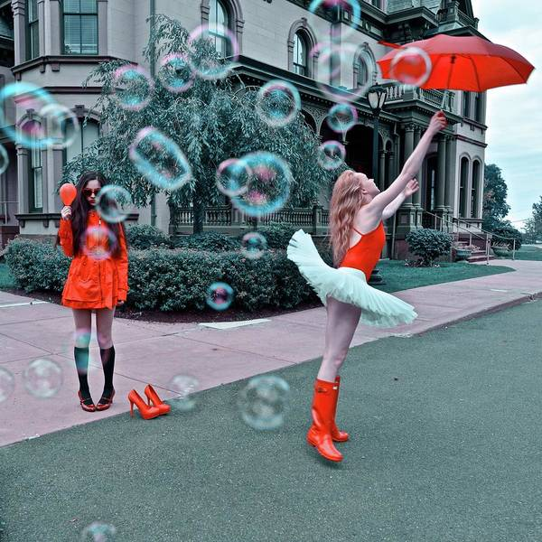 Strange Land Wall Art - Photograph - Ballerina With Mysterious Girl by