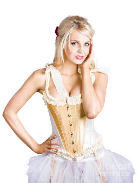 Art Fair Photograph - Ballet Dancer In Corset Dress by Jorgo Photography - Wall Art Gallery